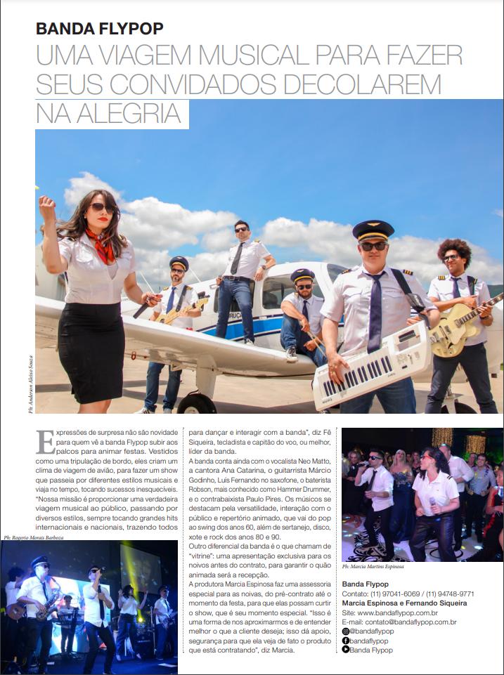 Banda Flypop na revista Caras
